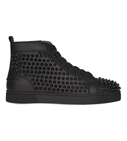 CHRISTIAN LOUBOUTIN Louis Flat calf/spikes (Black/black/bk