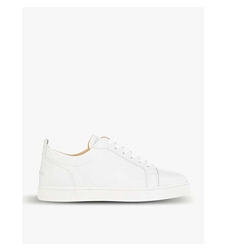 CHRISTIAN LOUBOUTIN Louis junior flat calf (White
