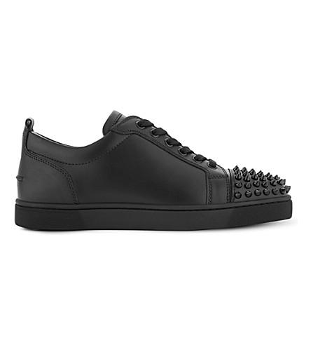 CHRISTIAN LOUBOUTIN Louis Junior spikes flat calf (Black/black