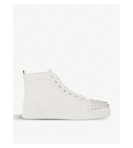 Lou spikes flat calf white/whi(11-10145-1151061)