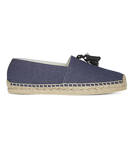 CHRISTIAN LOUBOUTIN Papiougomme Flat denim/calf (Blue