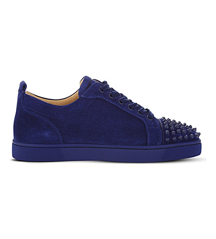 CHRISTIAN LOUBOUTIN Louis Junior Spikes flat (China+blue
