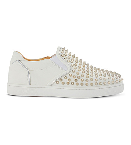 CHRISTIAN LOUBOUTIN Sailor boat spikes flat c (Latte/silver