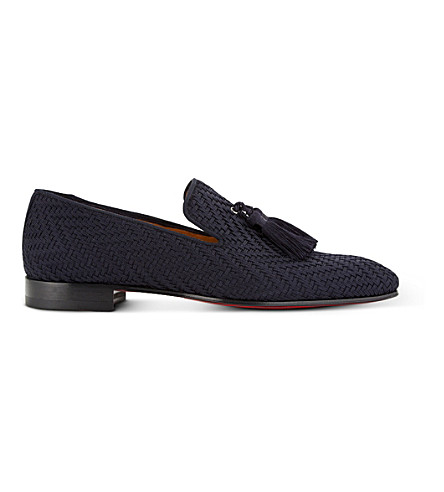 CHRISTIAN LOUBOUTIN Officialito Flat Tresse maillot (Navy