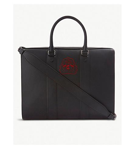 CHRISTIAN LOUBOUTIN Streetwall briefcase calf (Black