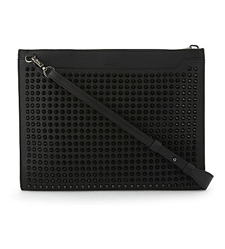 CHRISTIAN LOUBOUTIN Skypouch calf empire/spi (Black/black
