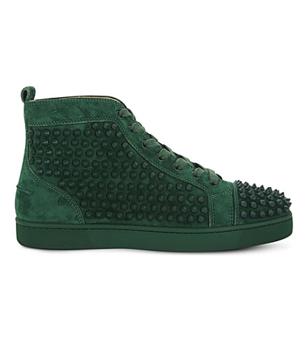 CHRISTIAN LOUBOUTIN Louis flat vv/spikes (Jungle/jungle+mat