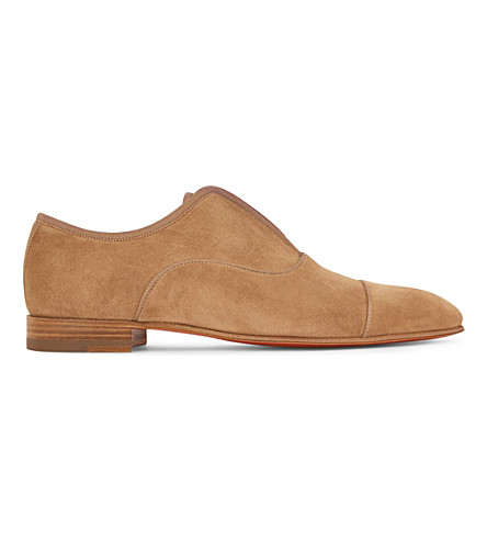 CHRISTIAN LOUBOUTIN Alpha Male flat veau velours/gg (Cappuccino