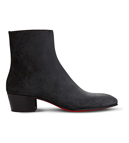CHRISTIAN LOUBOUTIN Huston 40 crosta ingrassata (Black