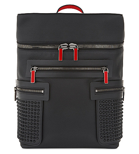 CHRISTIAN LOUBOUTIN Apoloubi backpack calf empire/spike (Black/black