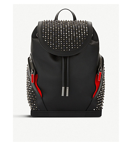 CHRISTIAN LOUBOUTIN Explorafunk empire/calf backpack (Bk/multi+met+bk