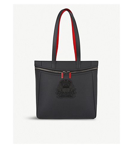 CHRISTIAN LOUBOUTIN Cabado leather tote (Black/black