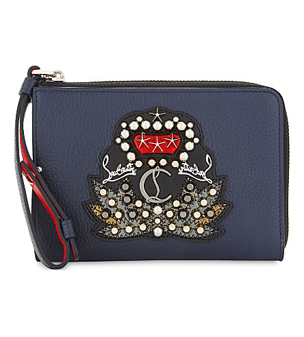 CHRISTIAN LOUBOUTIN Tinos Empecusson coin purse (Nuit/black