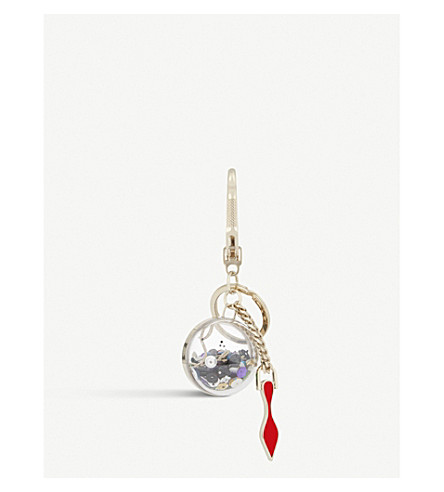 CHRISTIAN LOUBOUTIN Charms metal keyring (Multi/gold
