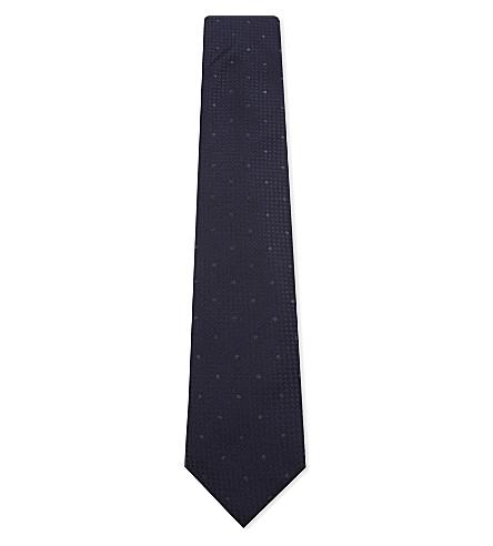 CORNELIANI Polka-dot silk tie (Blue