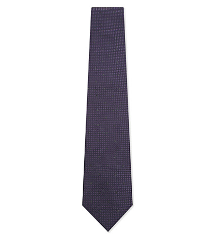 CORNELIANI Polka-dot silk tie (Purple