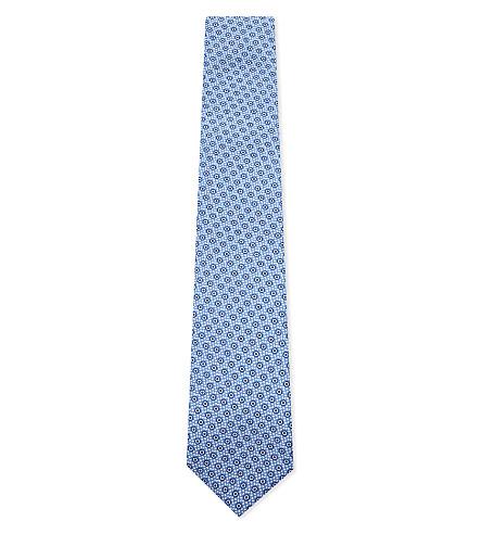 CORNELIANI 圆环丝绸领带 (蓝色