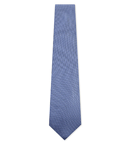 CORNELIANI Diamond silk tie (Sky+2