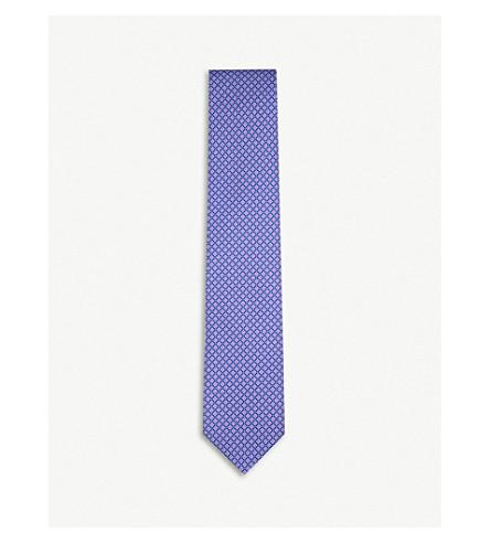 CORNELIANI Flower tile silk tie (Lilac