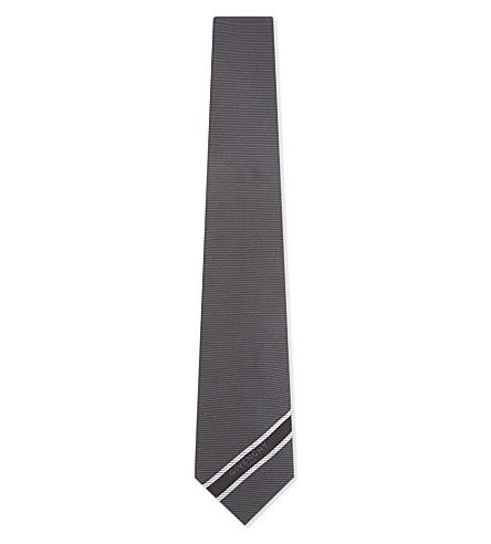 GIVENCHY Diagonal logo silk tie (Blue/black