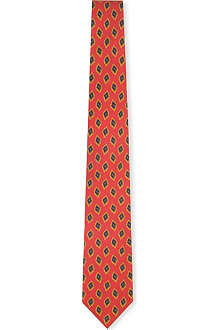 DRAKES Diamond print silk tie