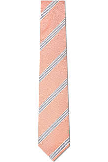 DRAKES Jacquard striped silk tie