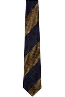 DRAKES Grenadine block stripe tie