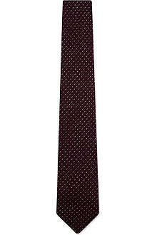 DRAKES Dashed grenadine silk tie