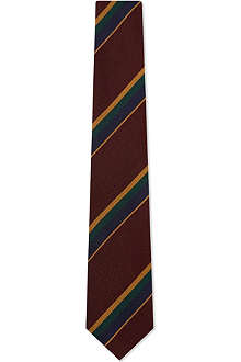 DRAKES Regimental striped silk tie