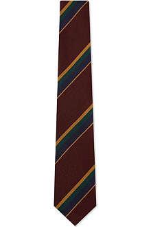 DRAKES Regimental striped silk tie