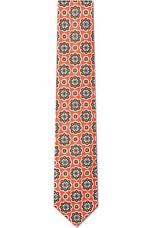 DRAKES Flower ring silk tie