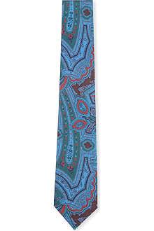 DRAKES Paisley print silk tie