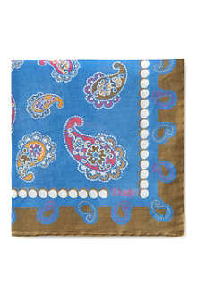 DRAKES Paisley cotton handkerchief
