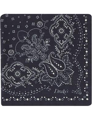 DRAKES Paisley print pocket square