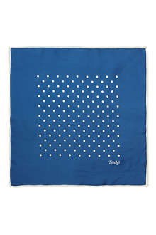 DRAKES Mini polka dot pocket square