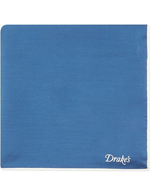DRAKES Plain silk handkerchief