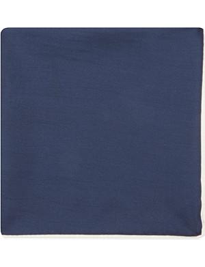 DRAKES Plain silk handkerchief