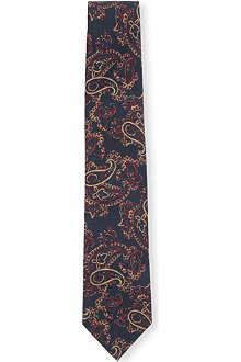 DRAKES Paisley-print silk tie