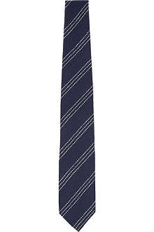 DRAKES Cashmere silk-blend striped tie