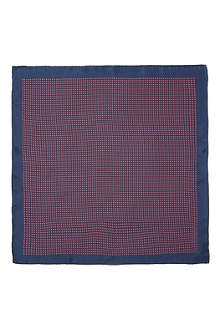 DRAKES Mini houndstooth pocket square