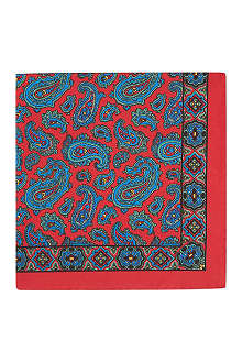 DRAKES Paisley-print silk pocket square