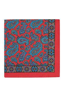 DRAKES Paisley-print silk pocket square