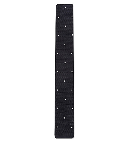 DRAKES Spot knitted silk tie (Navy