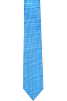 DRAKES Pin dot silk tie