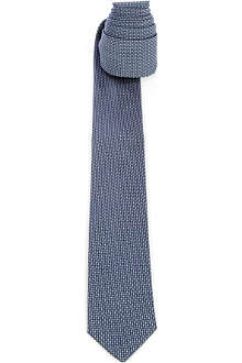 PECKHAM RYE Cross-stitch silk tie