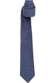 PECKHAM RYE Mosaic squares and dots silk tie