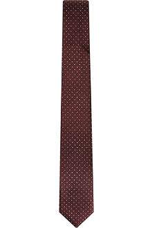PECKHAM RYE Pin dot silk tie