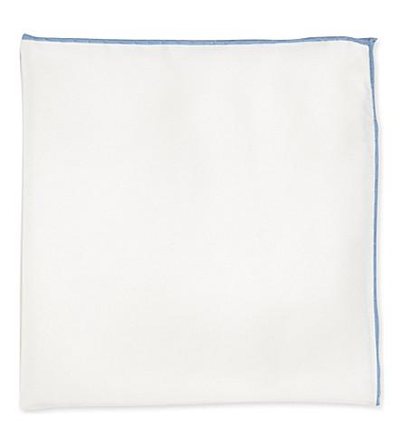 PECKHAM RYE Shoestring silk handkerchief (White/ sky shoe
