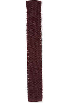 PECKHAM RYE Knitted silk tie