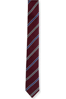 PECKHAM RYE Contrast colour striped tie